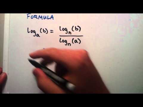 How to Solve Logarithms by Using the Change of Base Formula : Logarithms, Lesson 4