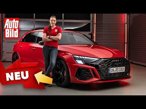 Audi RS 3 (2021) |Erster Check im neuen RS 3 |Sitzprobe mit Katharina Berndt