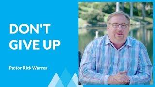 How To Fight Discouragement with Rick Warren
