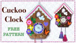 How to sew a Cuckoo Clock Wall Hanging || FREE PATTERN || Full Tutorial with Lisa Pay