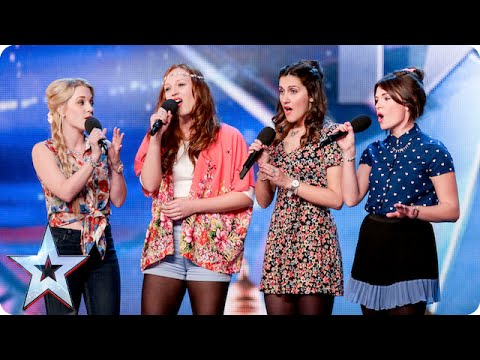 Disney singers Misstasia want EVERYONE to be happy, like ALL the time! | Britain's Got Talent 2015