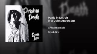 Panic in Detroit (For John Anderson)