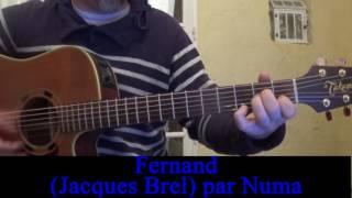 Fernand (Jacques Brel) reprise guitare voix