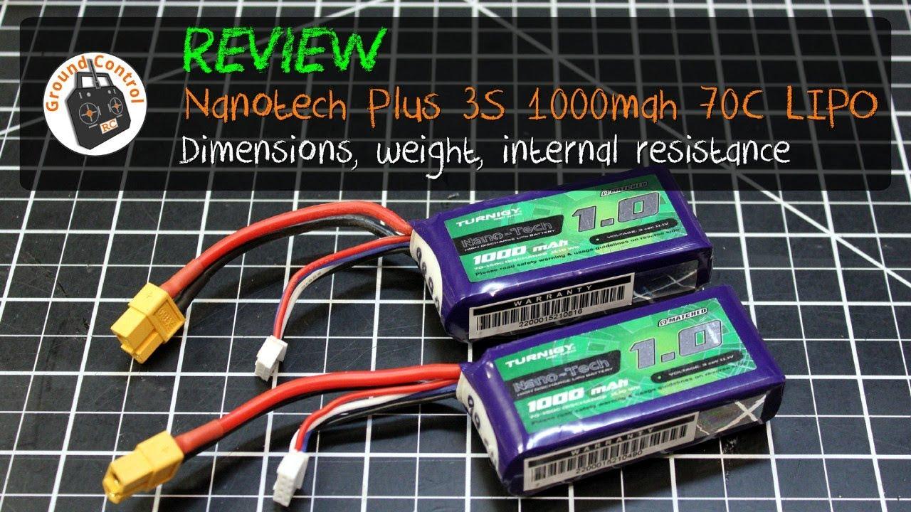 Review & Test Flight - Turnigy Nano-Tech Plus 3S 1000mAh 70C Lipo