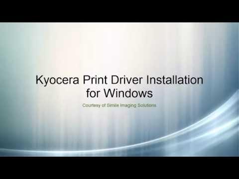 Kyocera Print Driver Install for Windows