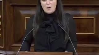 Apoyo de Macarena Olona, congresista partido Vox, España