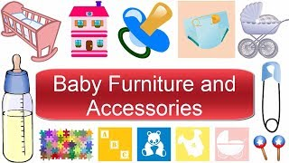 Baby Furniture And Accessories Vocabulary | Baby Room - Learn English