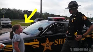 Policía compró limonada en el puesto de la niña, al día siguiente regresa, pero NO para comprar más