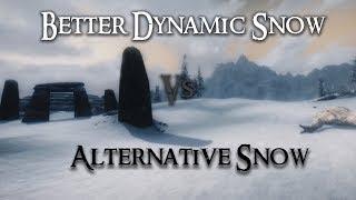 Skyrim Mod Comparison  - Better Dynamic Snow Vs. Alternative Snow