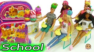 Num Noms School Day with Barbie Doll Teacher + Classroom of Students - Toy Video