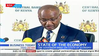CBK governor Patrick Njoroge express his dissatisfaction with locust invasion dwindling economy