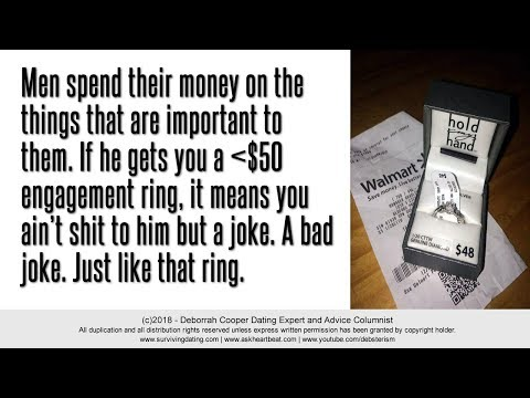 Marriage Proposal - Single Women Who Happily Settle for a $25 Engagement Ring