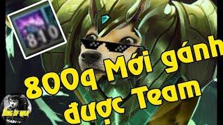 """800q Mới gánh được team. Cảm giác khó tả khi chơi """"Chó Nasus"""" -  King of war stream"""
