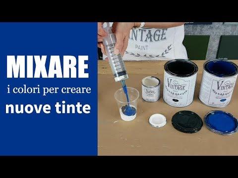 Mixare i colori della Vintage chalk Paint