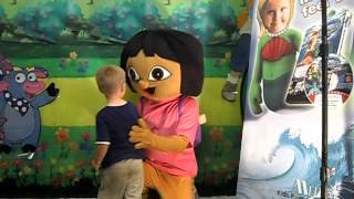 Christopher meets Dora at Strawberry Festival 2012