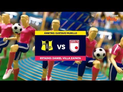 Alianza Petrolera vs Santa Fe (Goles y highlights) Liga Aguila 2019-II | Cuadrangulares fecha 4