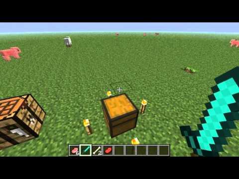Minecraft Mod Spotlight - Episode 9 - [1.3.2] VANILLA PEACEFUL- GET HOSTILE MOB DROPS by zennyrpg