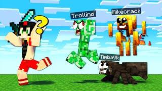 Nos ESCONDEMOS en MONSTRUOS de Minecraft 😂 EL MEJOR ESCONDITE DE MOBS 🤣 Invictor