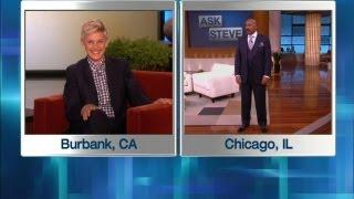 Ellen in Steve Harvey's Ear