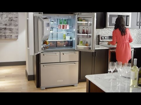 KITCHENAID® 5-DOOR REFRIGERATOR PROFESSIONALLY-INSPIRED DESIGN image 2