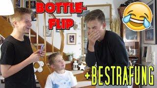 BOTTLE FLIP CHALLENGE + BESTRAFUNG !! TipTapTube