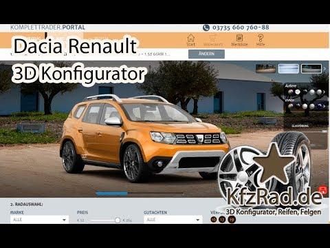 Dacia Renault - 3D konfigurator Reifen und Felgen bei KfzRad.de.