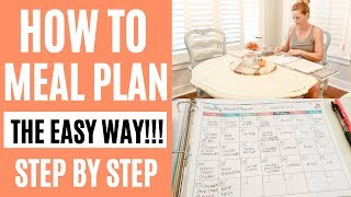 HOW TO MEAL PLAN THE EASY WAY // MONTHLY MEAL PLANNING // Amy Darley