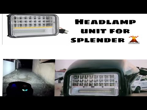 Best headlight for HERO SPLENDOR 🛵||HERO review sort clip ||SPLENDOR ||THEASKART