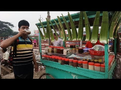 100% Healthy & Unique Food Aloe Vera Juice Full Preparation @ Tk 30 Bengali Drinks Aloe Vera Shorbat