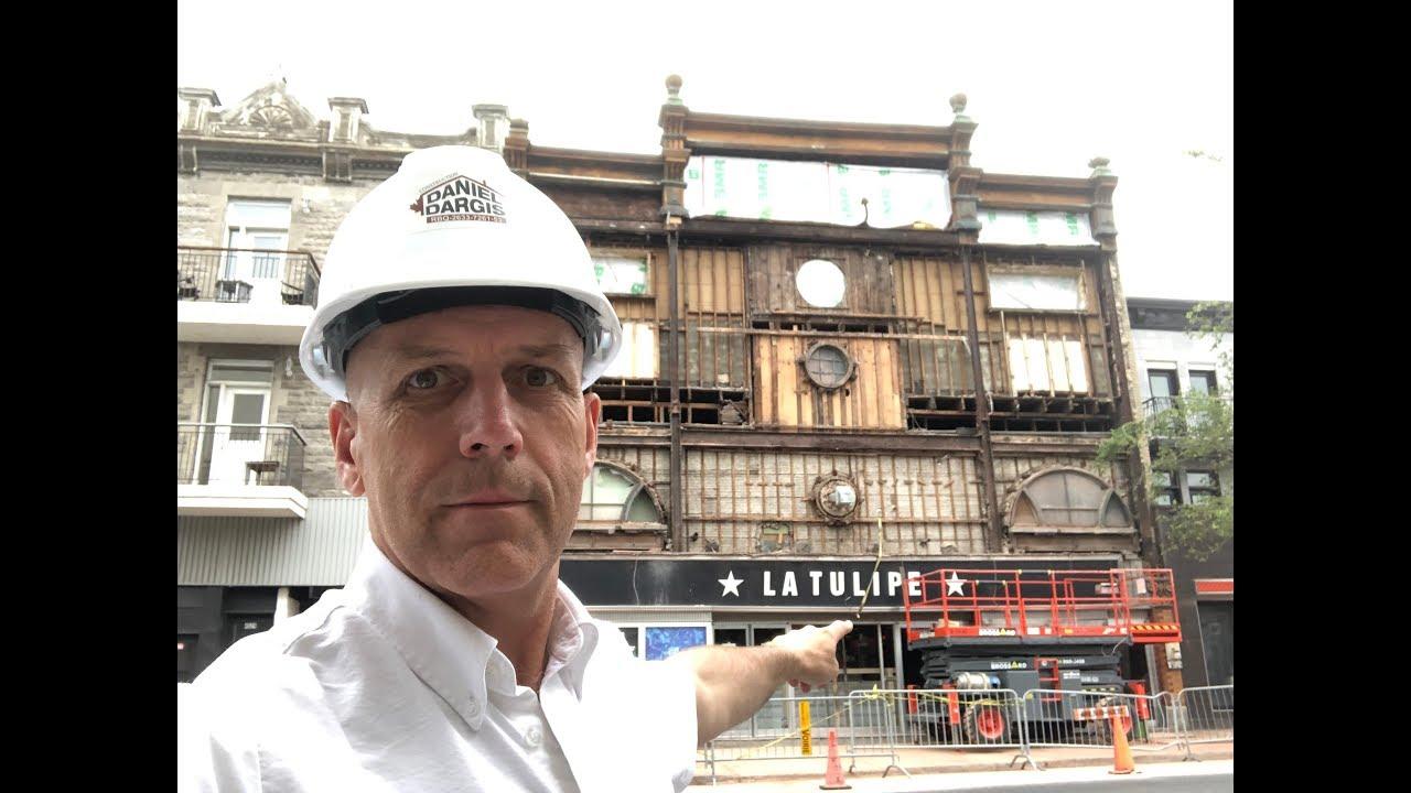 Démolition et inspection d'une façade en maçonnerie - Daniel Dargis ingénieur