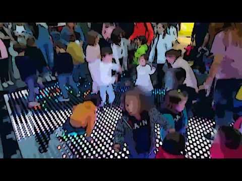 Pista de baile led interactiva para animación infantil