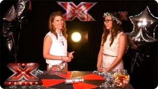 Abi Alton and Barclay Beales joins the TalkTalk Backstage Party - The X Factor 2013
