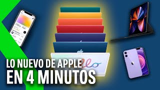 NUEVOS IMAC, IPAD PRO, AIRTAG Y APPLE TV! Resumen del APPLE SPRING RELOADED en 4 MINUTOS