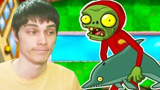 ЗОМБИ И ДЕЛЬФИНЧИК - ЛУЧШИЕ ДРУЗЬЯ! - Plants Vs Zombies #8