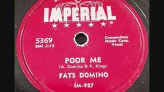 FATS DOMINO   Poor Me   78  1955