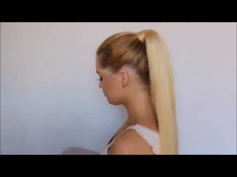 How To clip in Luxury for Princess ponytail extension