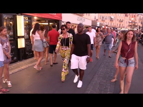 Exclusive Kris Jenner And Corey Gamble Romantic Dinner In The Port Of Saint Tropez