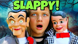 SLAPPY STOLE THE HALLOWEEN CANDY!! Slappy's Back with Danny! Goosebumps in Real Life!