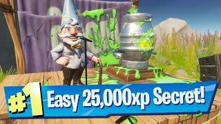 The Gnome Talk Location (Secret 25,000 XP Challenge) - Fortnite Battle Royale