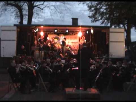 Pleinfeest 2008 - Oeffelt fanfare met Pay-Black - Deep Purple Medley
