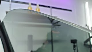 Shaving a Top Edge | Learning how to trim a perfect factory window tint edge