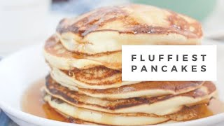 easy fluffy pancakes without buttermilk