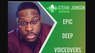 I will record an epic, deep, american male voice over for you