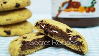 Печенье с кусочками шоколада и нутеллой