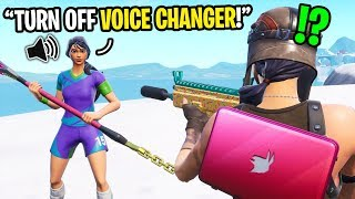 This kid thinks I'm using a voice changer until I got my HIGHEST kill game on Fortnite...