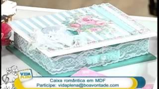 Caixa romântica com guardanapos Parte 2