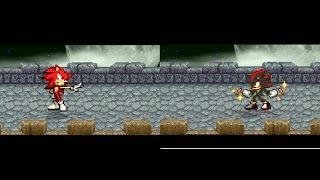 SSF2 Fire sonic VS Shadow Chaos