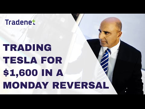 Live Day TESLA for $1,600 – How to Make Money trading a Monday Morning Reversal