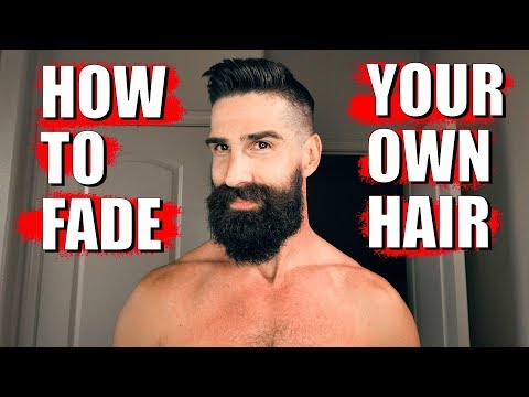 HOW TO FADE YOUR OWN HAIR (med/high fade) & beard trim