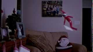 The Elf on the Shelf caught flying and getting into trouble (Part 2 of 5)